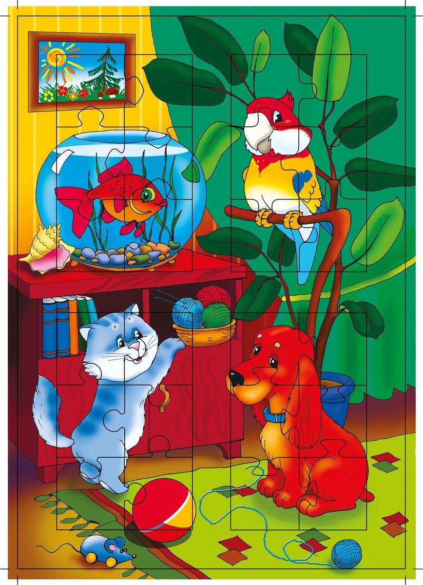 Дрофа-Медиа Пазл Домашний зоопарк1189Пазл Дрофа-Медиа Домашний зоопарк, без сомнения, придется по душе вашему ребенку. Собрав этот пазл, включающий в себя 24 элемента, вы получите картинку с изображением домашних животных. Элементы пазла выкладываются на рамку, которая поможет малышу увидеть, что он делает правильно, а над чем еще нужно подумать. Чтобы сложить картинку из нескольких частей, малышу нужно проявить сообразительность, терпение и настойчивость. Пазл Дрофа-Медиа Домашний зоопарк научит ребенка умению доводить начатое дело до конца, поможет развить внимание, память, образное и логическое мышление, сенсорно-моторную координацию движения рук. Собирание пазла способствует развитию мелкой моторики, которая напрямую влияет на развитие речи и интеллектуальных способностей. В дальнейшем хорошая координация движений рук поможет ребенку легко овладеть письмом.