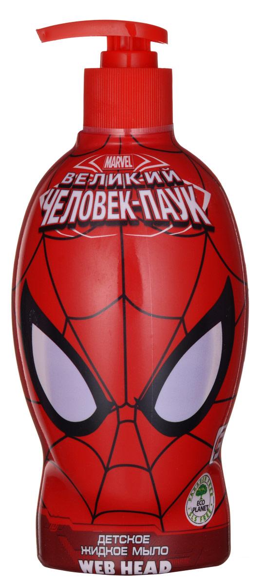 Spider-Man Мыло жидкое Web-Head, детское, 480 млП4Жидкое мыло бережно очищает кожу, увлажняет, успокаивает и смягчает. Мыло станет отличным помощником в борьбе с бактериями, благодаря экстракту арбуза, который богат полезными микроэлементами. Линия средств для настоящего супер-героя! Товар сертифицирован.