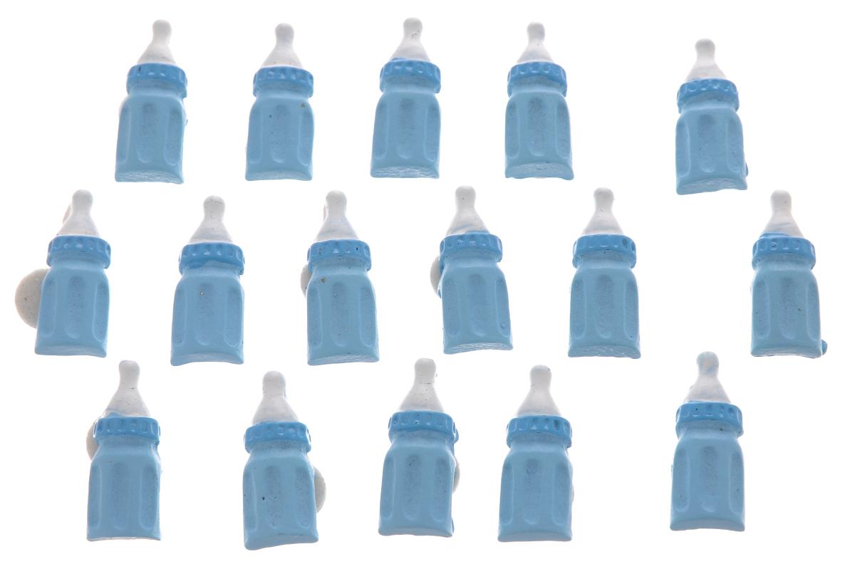 Набор декоративных украшений со стикером ScrapBerrys Детская бутылочка, 16 шт7714779Набор ScrapBerrys Детская бутылочка состоит из 16 оригинальных декоративных украшений. Изделия выполнены из пластика и снабжены стикерами для быстрого крепления. Такой набор прекрасно подойдет для скрапбукинга, его можно использовать для украшения альбомов, открыток, рамок, подарочных коробок и многого другого. Размер украшения: 2,3 х 1 х 0,5 см.