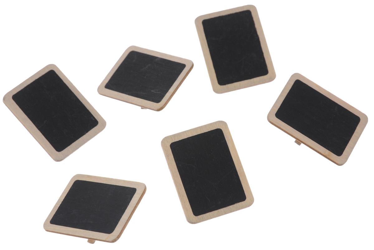 Набор меловых прищепок ScrapBerrys, 6 шт7714781Набор ScrapBerrys состоит из 6 декоративных прищепок. Прищепки выполнены из высококачественного дерева и имеют прямоугольную меловую поверхность для записей мелом. Изделия используются для развешивания стикеров на веревке, маленьких игрушек. Могут применяться при создании различных творческих работ, а также во флористике. Такие оригинальные и необычные прищепки будут радовать глаз и поднимут настроение. Размер прищепок: 3 х 4 х 1 см. Размер меловой поверхности: 2,4 х 3,3 см.
