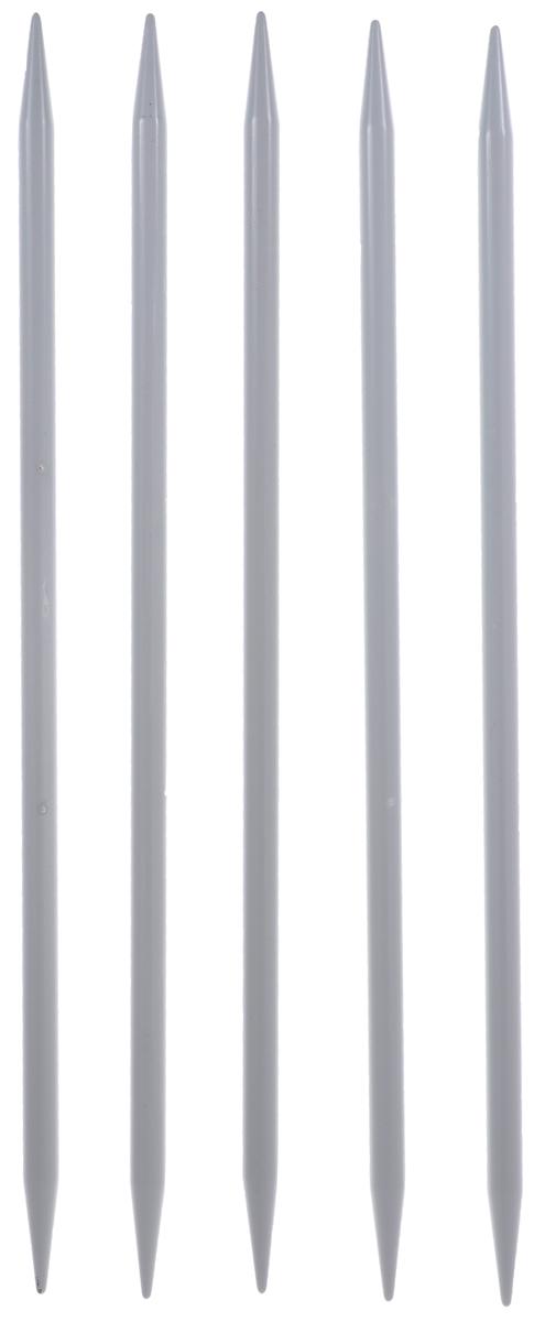 Спицы носочные Hobby&Pro, алюминиевые, прямые, диаметр 6 мм, длина 20 см, 5 шт7701508Спицы для вязания Hobby&Pro изготовлены из высококачественного алюминия с тефлоновым покрытием. Спицы прочные, легкие, гладкие, удобные в использовании. Кончики спиц закругленные. Спицы без ограничителей предназначены для вязания шапочек, варежек и носков. Вы сможете вязать для себя и делать подарки друзьям. Рукоделие всегда считалось изысканным, благородным делом. Работа, сделанная своими руками, долго будет радовать вас и ваших близких.