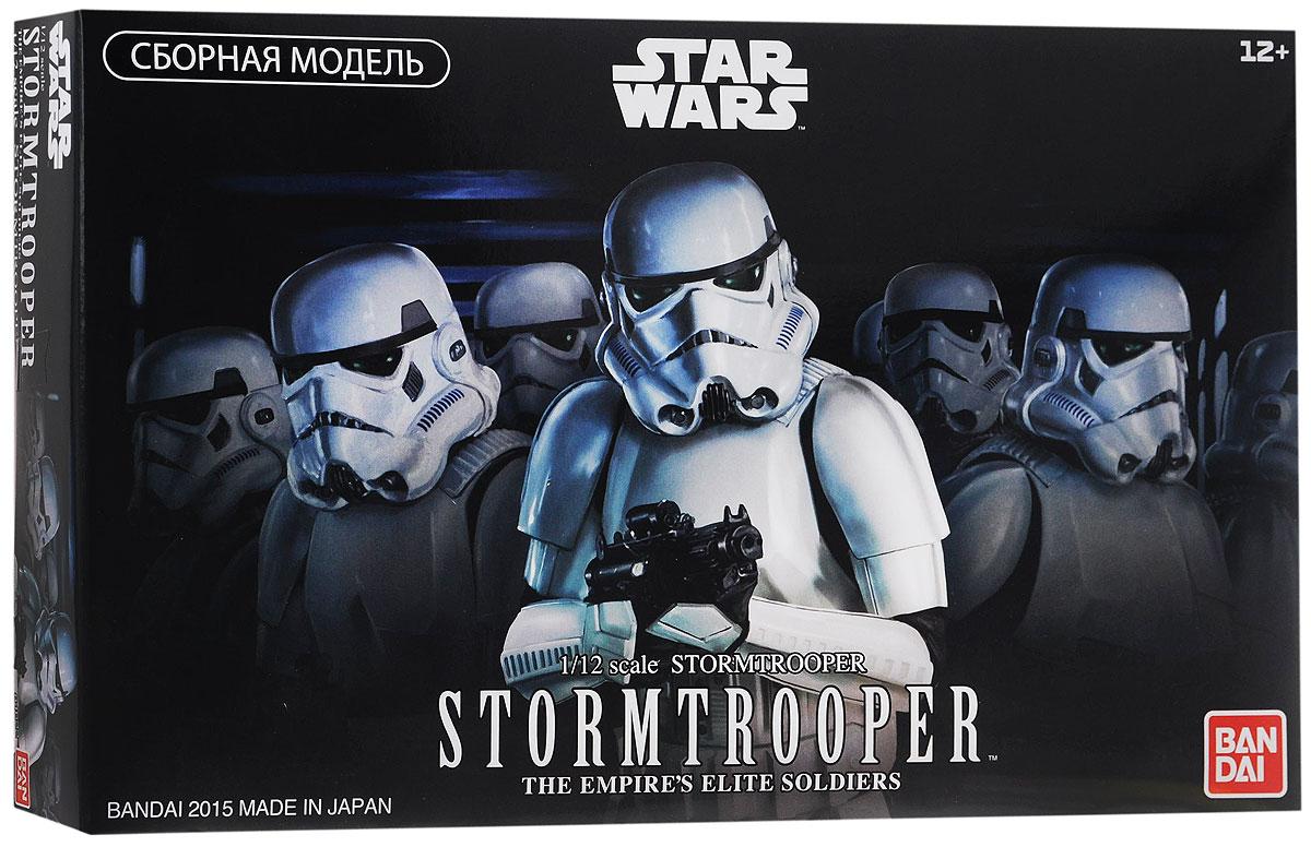 Star Wars Сборная модель Штурмовик84622Сборная модель Star Wars Штурмовик непременно понравится не только детям, но и всем поклонникам культовой саги Звёздные Войны. Красочная коробка содержит комплект деталей для сборки в масштабе 1/12 коллекционной стендовой фигурки Имперского Штурмовика, одного из элитных воинов, действующих в большинстве эпизодов киносаги Звёздные Войны. Фигурка Штурмовика, выполненная из качественного белого пластика с эффектными чёрными деталями, имеет подвижные суставы рук и ног, благодаря которым она может принимать реалистичные боевые позы. Модель комплектуется шестью вариантами кистей рук (для использования в зависимости от игровой ситуации), тремя видами оружия, поясной кобурой и подставкой, имитирующей пол боевой станции Империи Звезда Смерти. Детали для сборки изготовлены из высококачественного безопасного пластика и имеют превосходную детализацию. Соберите фигурку Имперского Штурмовика, коллекционируйте фигурки других персонажей и модели звёздных кораблей, действующих...