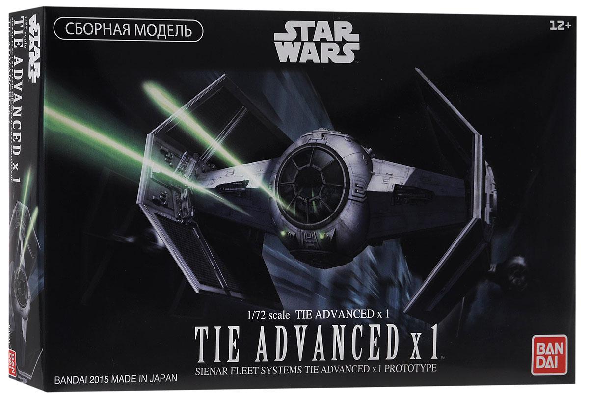 Star Wars Сборная модель Истребитель TIE Advance x184611Сборная модель Star Wars Истребитель TIE Advance  непременно понравится не только детям, но и всем поклонникам культовой саги Звёздные Войны. В яркой красочной коробке находится комплект деталей для сборки масштабной (1:72) стендовой модели усовершенствованного звёздного истребителя серии TIE (Twin Ion Engine - Сдвоенный Ионный Двигатель), на котором летал Главнокомандующий войсками Галактической Империи Дарт Вейдер в IV эпизоде Звёздных Войн. Эти истребители могли на равных сражаться с X-Wing - основными истребителями Альянса Повстанцев в его битвах с флотом Империи. Модель имеет эффектный внешний вид благодаря характерной форме солнечных батарей, два варианта фонаря кабины пилота (прозрачную и матовую), лазерные пушки как основное оружие, два варианта фигурки Дарт Вейдера в его легендарных чёрных доспехах (сидящую и в полный рост) и фрагмент обшивки боевой станции Империи Звезда Смерти в качестве подставки. Элементы для сборки изготовлены из качественного...
