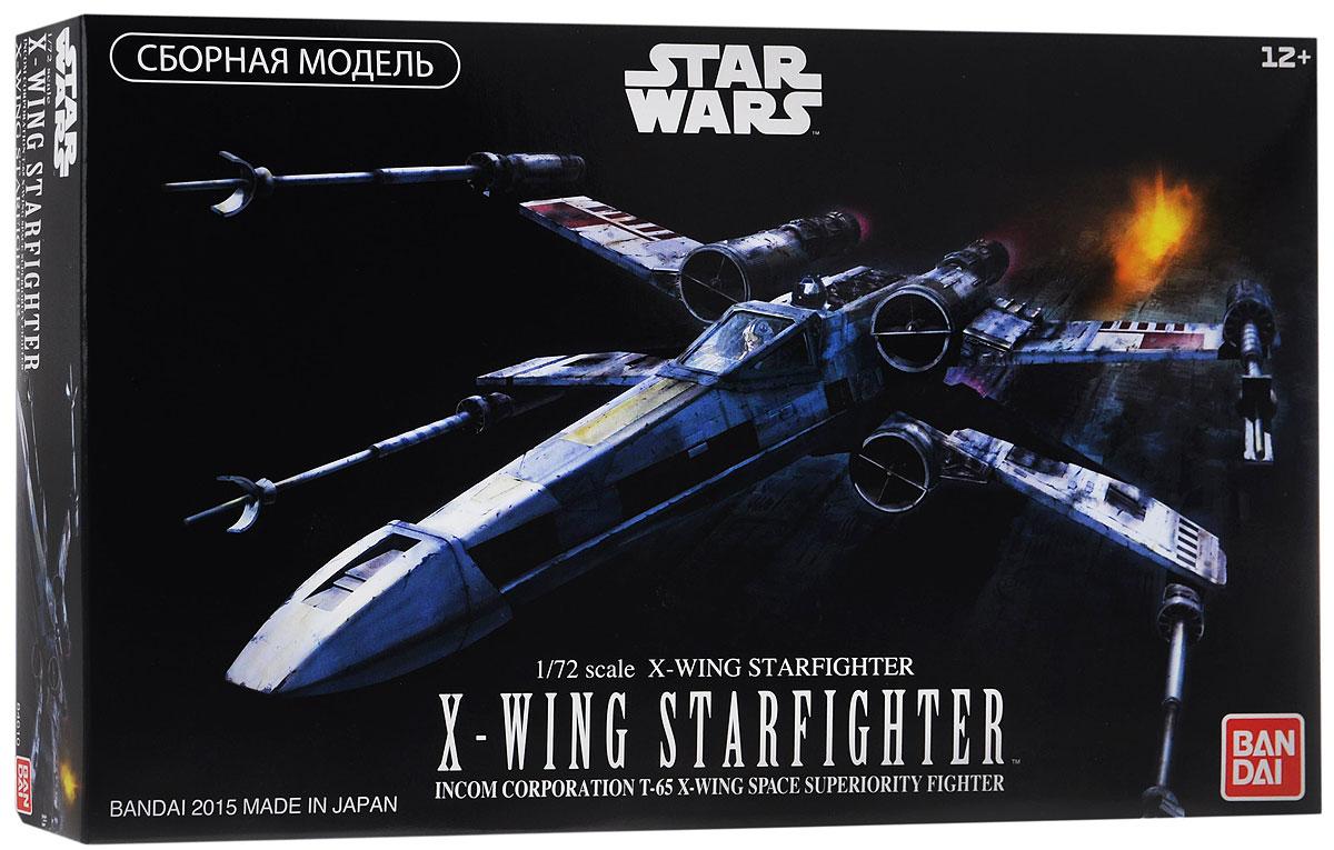 Star Wars Сборная модель Истребитель X-Wing Starfighter84610Сборная модель Star Wars Истребитель X-Wing Starfighter непременно понравятся не только детям, но и всем поклонникам культовой саги Звёздные Войны. В красочной коробке находится комплект деталей для сборки масштабной (1/72) стендовой модели легендарного Звёздного Истребителя X-Wing из IV эпизода киносаги Звёздные Войны. Именно эти истребители использовались Альянсом Повстанцев в его битвах с флотом Галактической Империи, именно на таком Звёздном Истребителе Люк Скайуокер атаковал и уничтожил имперскую боевую станцию Звезда Смерти. Модель имеет подвижные, как в фильме, крылья, два варианта закрывающегося фонаря кабины пилота (прозрачную и матовую), протонные торпеды в качестве основного ударного вооружения, два варианта фигурки пилота (сидящую и в полный рост), подвижные фигурки дроидов R2-D2 и R5-D4, которые могут соединяться с кораблем, и, наконец, фрагмент обшивки Звезды Смерти с входным отверстием вентиляционной шахты, через которое Люк Скайуокер и поразил...