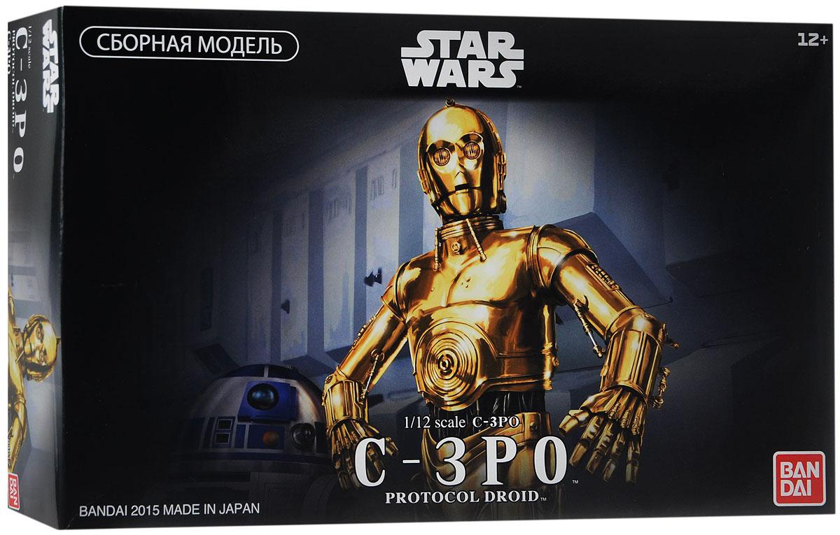 Star Wars Сборная модель C-3PO84617Сборная модель Star Wars C-3PO непременно понравится не только детям, но и всем поклонникам культовой саги Звёздные Войны. В комплект поставки входит набор деталей для сборки фигуры Протокольного Дроида (робота-андроида) C-3PO, забавного персонажа, участвующего во многих эпизодах киносаги Звёздные Войны и отличающегося редким занудством характера. Самой яркой особенностью его внешнего вида является золотое покрытие корпуса, которым он очень гордится. Фигурка C-3PO выполнена в масштабе 1:12 из качественного пластика с металлизированным золотистым покрытием (кроме правой голени - которая, как и в фильме, осталась серебристой). Фигурка имеет подвижные руки, ноги, туловище и голову, благодаря чему способна принимать разнообразные реалистичные позы. Модель комплектуется подставкой, изображающей пол внутри Имперской космической станции Звезда Смерти, несколькими вариантами панелей лица (нормальной и с сюжетными повреждениями), двумя вариантами подвижных кистей рук и...