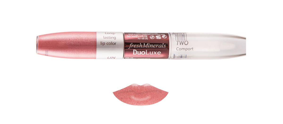 freshMinerals Блеск для губ с двойным эффектом, оттенок: Dusty Rose 7 мл905950