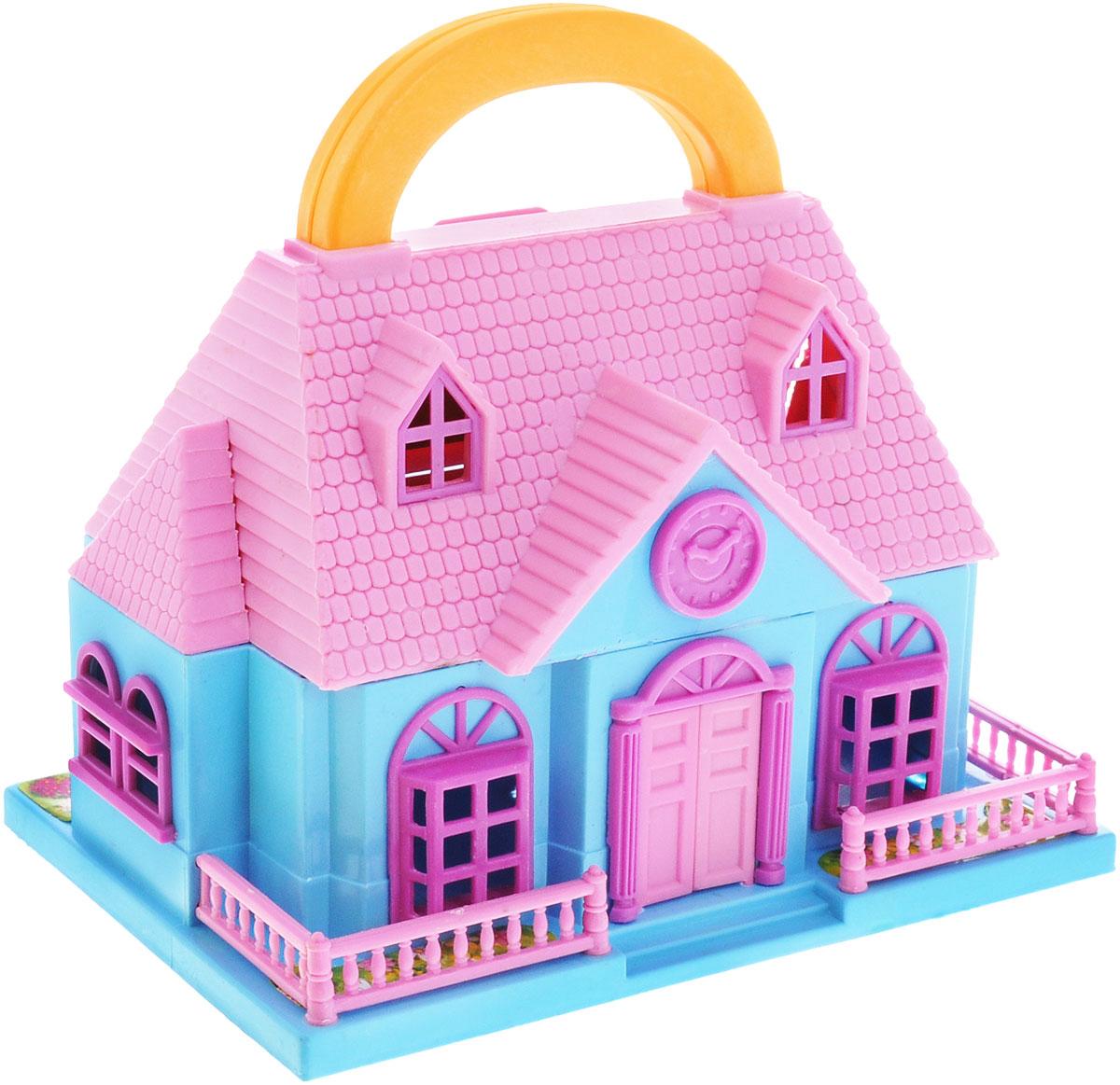 1TOY Игровой набор Домик цвет розовый голубойТ52954Игровой набор 1TOY Домик в виде чемоданчика, который можно носить с собой, включает аксессуары для игровой обстановки и фигурки человечков. Раскрой его - и перед тобой откроется удивительный маленький мир, где крошечные человечки живут своей жизнью. Достаточно лишь дать волю фантазии, чтобы создать самые разные игровые ситуации. Также для игры с домиком подходят любые крохотные куколки и пупсики, фигурки животных.