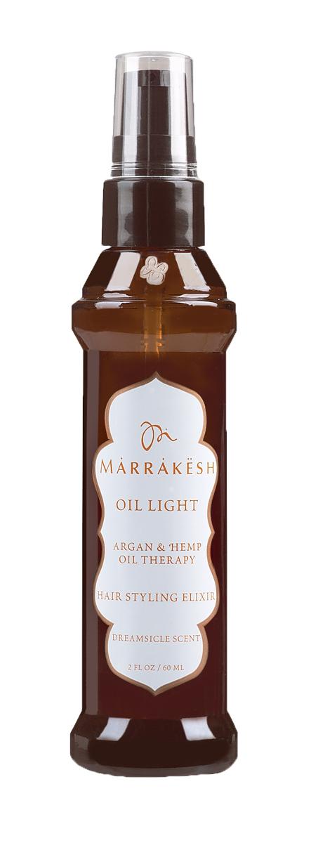 Marrakesh Легкое восстанавливающее масло для тонких волос Dreamsicle, 60 млMKL006Супер легкая версия масла Marrakesh для тонких волос - Заметно улучшает состояние самых тонких, поврежденных, слабых волос - Не утяжеляет тонкие волосы - Делает волосы шелковистыми и гладкими - Надолго устраняет пушение - Добавляет волосам блеск - в 2 раза сокращает время сушки волос - Подходит для окрашенных волос - Масла Арганы и Конопли улучшают состояние волос и их текстуру - Масла Арганы и Конопли делают волосы послушными и эластичными - Волосы на ощупь становятся гладкими и шелковистыми - Продукт убирает пушение и добавляет волосам блеск - Делает волосы более гибкими и упрощает укладку - Легкая текстура подходит для всех типов волос