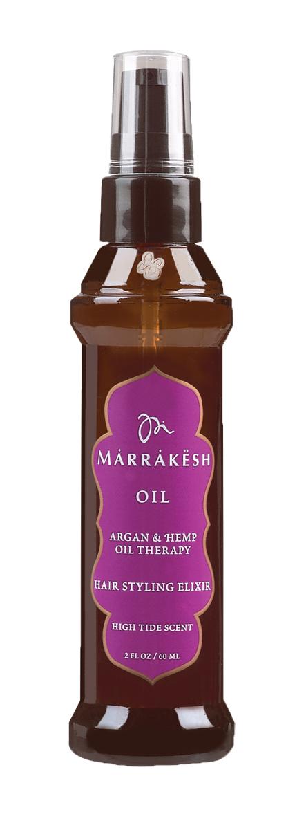Marrakesh Восстанавливающее укрепляющее масло для волос High Tide, 60 млMK053Заметно улучшает состояние и текстуру ломких, сухих волос - Экстракт кокоса, входящий в состав масла, делает волосы шелковистыми и мягкими - Обеспечивает продолжительный эффект - Придает волосам дополнительный блеск и визуально уплотняет тонкие волосы - В 2 раза уменьшает время сушки волос после мытья - Подходит для окрашенных волос - Масла Арганы и Конопли улучшают состояние волос и их текстуру - Масла Арганы и Конопли делают волосы послушными и эластичными - Богатый антиоксидантами состав, мягко увлажняет и защищает волосы - Убирает пушение и добавляет волосам блеск - Делает волосы более гибкими и упрощает укладку