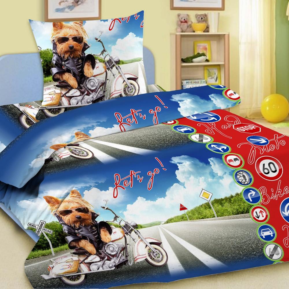Letto Комплект детского постельного белья Супербайк
