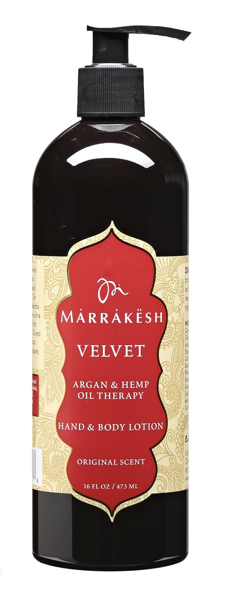 Marrakesh Увлажняющий лосьон для рук и тела Вельвет (аромат Original), 480 млMKHSV275Увлажняет кожу, возвращает коже мягкость, упругость и эластичность. Масло конопли удерживает влагу в коже на протяжении всего дня. Содержит богатый состав аминокислот и жирных кислот, которые питают, увлажняют и защищают кожу. Масло ши в составе лосьона успокаивает, смягчает и придает коже гладкость.