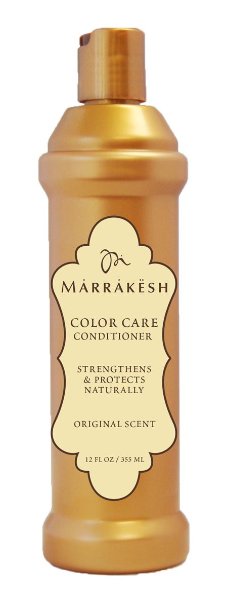 Marrakesh Кондиционер для окрашенных волос Color Original, 355 млMKCC1275Способствует сохранению цвета и влаги внутри волоса - Делает волосы послушными - Придает волосам шелковистость и блеск - Можно использовать на окрашенных волосах - Масла Арганы и Конопли значительно улучшают состояние волос и их текстуру - Протеины пшеницы укрепляют кутикулу и препятствуют повреждению волос - Пантенол удерживает влагу внутри волоса, делает волосы послушными и блестящими