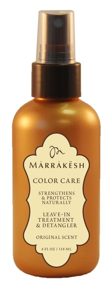 Marrakesh Несмываемое средство, спрей для окрашенных волос Color Original, 118 млMKCX075Мгновенно увлажняет и восстанавливает волосы. - Облегчает расчесывание и помогает распутать даже самые сухие, тонкие волосы. Защищает от пушистости и статического электричества. - Придает волосам естественный блеск. - Защищает цвет окрашенных волос от выгорания. - Обладает надежной UV и термо защитой. - Уникальный комплекс масел Арганы и Конопли значительно улучшает состояние и текстуру волос - В состав продукта входит Пантенол, который увлажняет и облегчает расчесывание - Антиоксиданты и кислоты естественного происхождения препятствуют повреждению - Натуральные экстракты трав укрепляют кутикулу