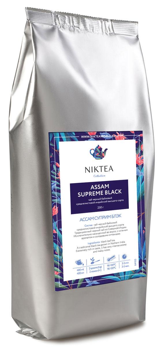 Niktea Assam Supreme Black черный листовой чай, 250 гTALTHA-DP0002Niktea Assam Supreme Black - традиционный черный чай из Индии. Исключительно насыщенный во вкусе, с сильным ароматом и солодовыми оттенками. NikTea следует правилу качество чая - это отражение качества жизни и гарантирует: Тщательно подобранные рецептуры в коллекции топовых позиций-бестселлеров. Контролируемое производство и сертификацию по международным стандартам. Закупку сырья у надежных поставщиков в главных чаеводческих районах, а также в основных центрах тимэйкерской традиции - Германии и Голландии. Постоянство качества по строго утвержденным стандартам. NikTea - это два вида фасовки - линейки листового и пакетированного чая в удобной технологичной и информативной упаковке. Чай обладает многофункциональным вкусоароматическим профилем и подходит для любого типа кухни, при этом постоянно осуществляет оптимизацию базовой коллекции в соответствии с новыми тенденциями чайного рынка. Листовая коллекция NikTea представлена...