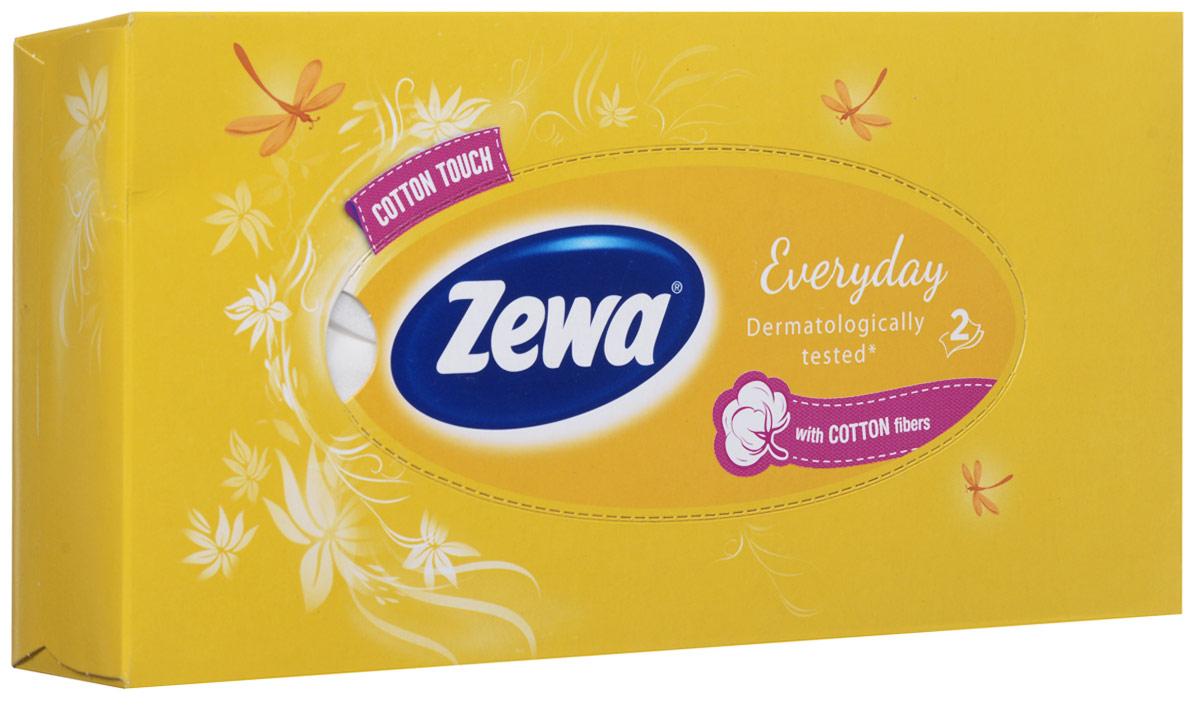 Zewa Платки косметические в коробке Everyday, двухслойные, цвет: желтый, 100 шт140814757_желтыйМягкие неароматизированные двухслойные гигиенические салфетки Zewa Everyday изготовлены из 100% целлюлозы и волокон хлопка. Обладают большой впитывающей способностью. Не вызывают аллергии, не раздражают чувствительную кожу лица. Просты и удобны в использовании. Товар сертифицирован.