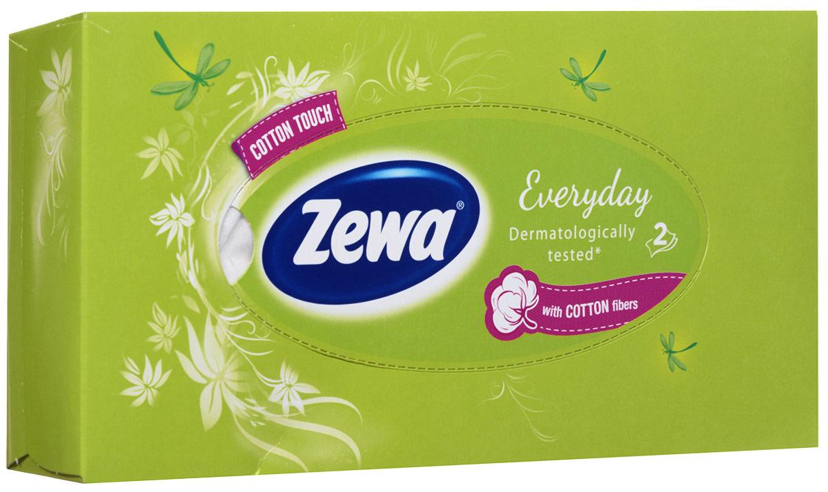 Zewa Платки косметические в коробке Everyday, двухслойные, цвет: салатовый, 100 шт140814757_салатовыйМягкие неароматизированные двухслойные гигиенические салфетки Zewa Everyday изготовлены из 100% целлюлозы и волокон хлопка. Обладают большой впитывающей способностью. Не вызывают аллергии, не раздражают чувствительную кожу лица. Просты и удобны в использовании. Товар сертифицирован.