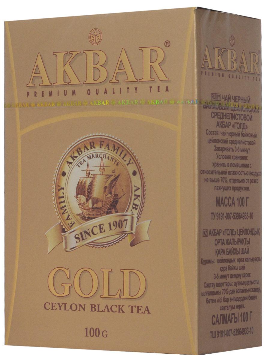 Akbar Gold черный листовой чай, 100 г 1041161
