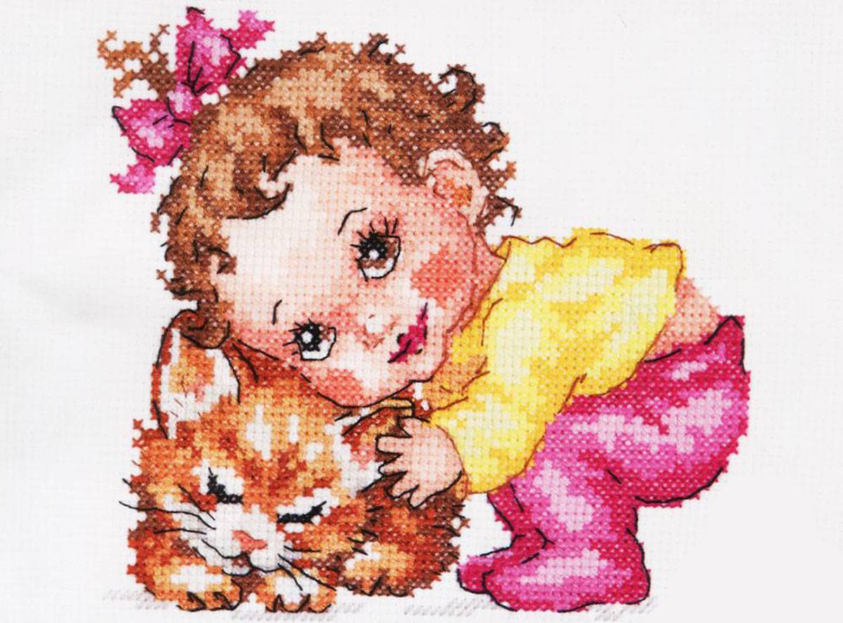 Набор для вышивания Чудесная игла Ты, мой котенок, счетный крест, 14 х 12 см250259Техника: Счетный крест. Состав набора: Нитки мулине Gamma - 100% хлопок, игла для вышивания, канва Аида 14 белого цвета, цветная схема для вышивания, краткая инструкция на русском языке