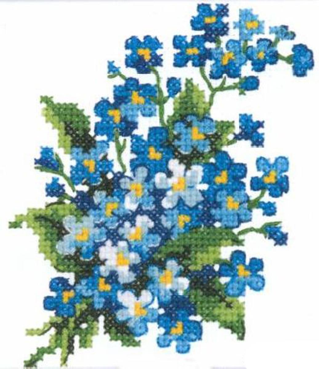 Набор для вышивания крестом Чудесная игла Незабудки, 10 х 11 см250281Набор для вышивания крестом Чудесная игла Незабудки поможет вам создать свой личный шедевр - красивую картину, вышитую в технике счетный крест. Вышивание отвлечет вас от повседневных забот и превратится в увлекательное занятие! Работа, сделанная своими руками, создаст особый уют и атмосферу в доме и долгие годы будет радовать вас и ваших близких, а подарок, выполненный собственноручно, станет самым ценным для друзей и знакомых. В набор входит: - канва Aida №14 (белого цвета), - нитки мулине Gamma (9 цветов), - игла для вышивания, - цветная схема, - инструкция на русском языке. Размер готовой работы: 10 х 11 см. Размер канвы: 21,5 х 20,5 см.