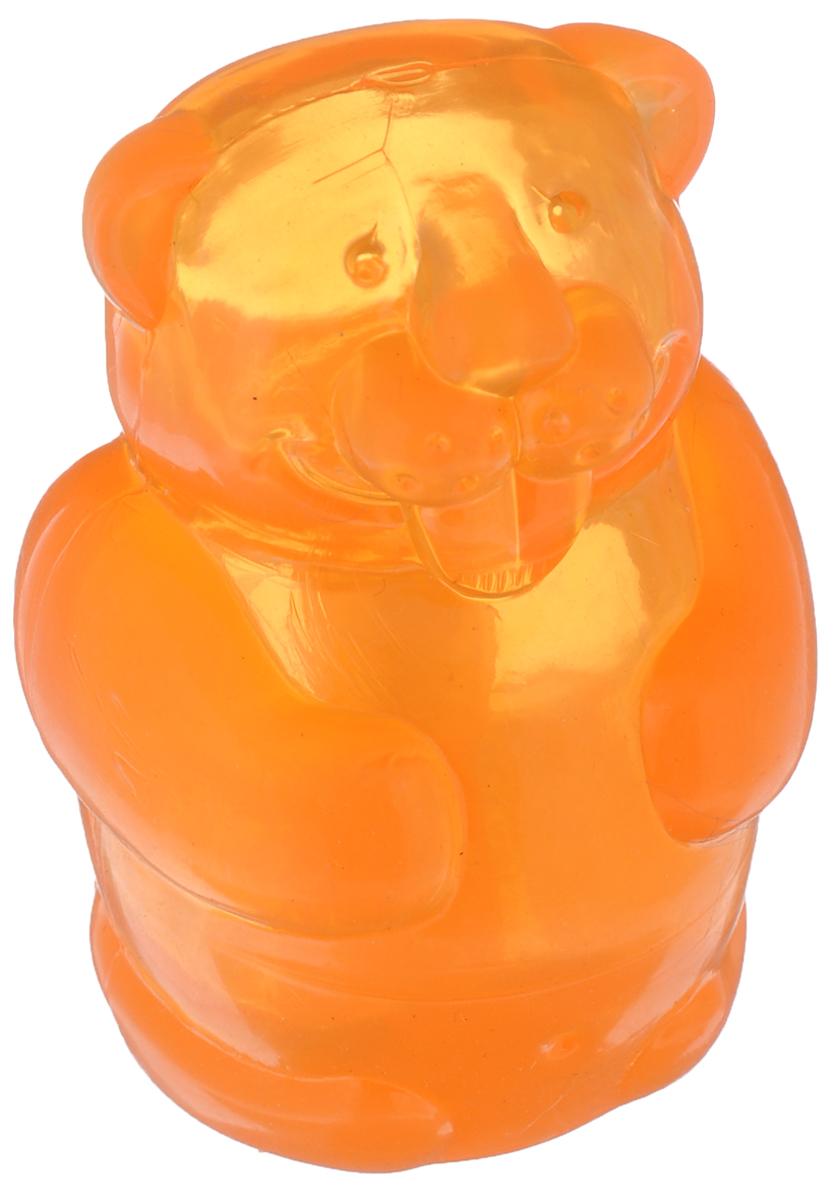 Игрушка для собак Kong Бобер, средний, с пищалкой, цвет: оранжевый, высота 7 смPSJ2AE_бобер_оранжИгрушка Kong Бобер для собак средних пород из серии Squeezz JELS выполнена из качественной синтетической резины в виде бобра. Пищалка спрятана таким образом, чтобы собака не могла вынуть ее. Такая игрушка отлично отскакивает от земли.