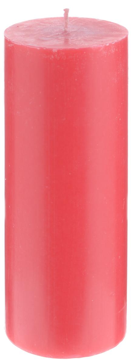 Свеча декоративная Proffi Home Столбик, цвет: красный, высота 19,5 смPH3434Декоративная свеча Proffi Home Столбик выполнена из парафина и стеарина в классическом стиле. Изделие порадует вас ярким дизайном. Такую свечу можно поставить в любое место, и она станет ярким украшением интерьера. Свеча Proffi Home Столбик создаст незабываемую атмосферу, будь то торжество, романтический вечер или будничный день.