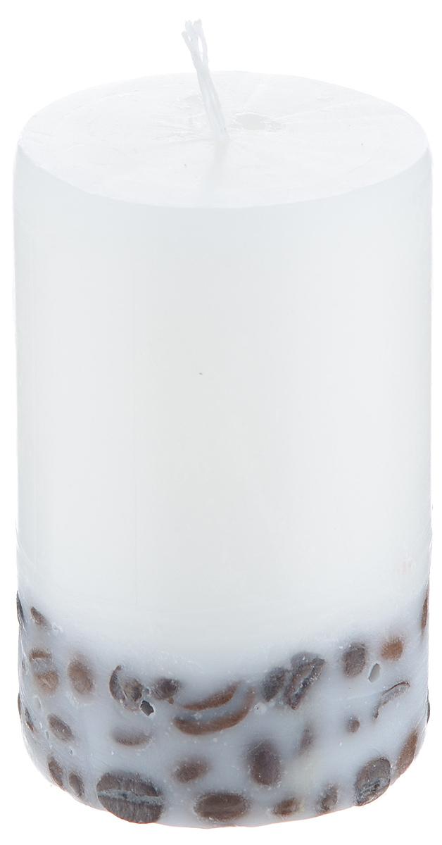 Свеча декоративная Proffi Home Столбик, с кофе, цвет: белый, высота 8 смPH5884Декоративная свеча Proffi Home Столбик выполнена из парафина и стеарина в классическом стиле. Нижняя часть свечи декорирована кофейными зернами. Изделие порадует вас ярким дизайном. Такую свечу можно поставить в любое место, и она станет ярким украшением интерьера. Свеча Proffi Home Столбик создаст незабываемую атмосферу, будь то торжество, романтический вечер или будничный день.