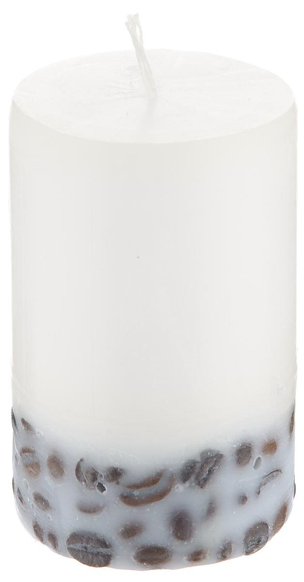 Свеча декоративная Proffi Home Столбик, с кофе, цвет: бежевый, высота 8 смPH5885Декоративная свеча Proffi Home Столбик выполнена из парафина и стеарина в классическом стиле. Нижняя часть свечи декорирована кофейными зернами. Изделие порадует вас ярким дизайном. Такую свечу можно поставить в любое место, и она станет ярким украшением интерьера. Свеча Proffi Home Столбик создаст незабываемую атмосферу, будь то торжество, романтический вечер или будничный день.