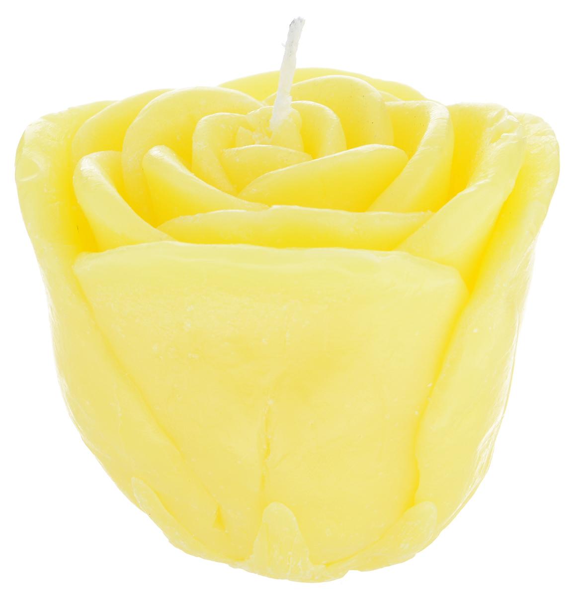 Свеча декоративная Proffi Большая роза, цвет: желтый, 7 х 7 х 6 смPH5924Декоративная свеча Proffi Большая роза изготовлена из парафина и стеарина, а фитиль из хлопка. Изделие выполнено в виде розы. Предназначена для освещения и украшения помещений. Такая свеча может стать отличным подарком или дополнить интерьер вашей спальни или гостиной.