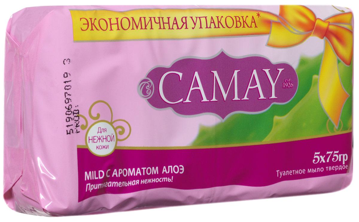 Camay Твердое мыло Mild 75 гр32025908Туалетное мыло Camay Алоэ - легкий аромат ромашки и алоэ расслабляет и наполняет нежностью.