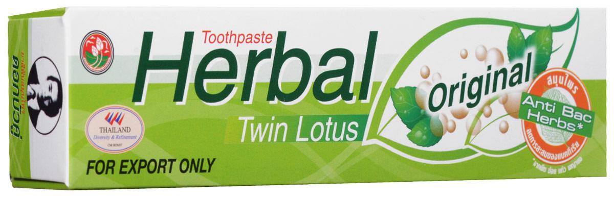 Twin Lotus Зубная паста Herbal Original С травами оригинальная, 100 г0013Растительные зубные пасты Twin Lotus содержат более 96% натуральных ингредиентов, в подтверждение этого – темный цвет пасты, достигнутый благодаря смешиванию разных трав и процессу изготовления с использованием современного оборудования.