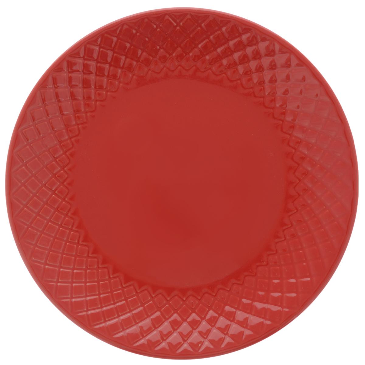 Тарелка обеденная Walmer Amber, цвет: красный, диаметр 20 смW06131020Обеденная тарелка Walmer Amber, изготовленная из высококачественной керамики, имеет изысканный внешний вид. Яркий дизайн придется по вкусу и ценителям классики, и тем, кто предпочитает утонченность. Тарелка Walmer Amber идеально подойдет для сервировки стола и станет отличным подарком к любому празднику. Диаметр (по верхнему краю): 20 см