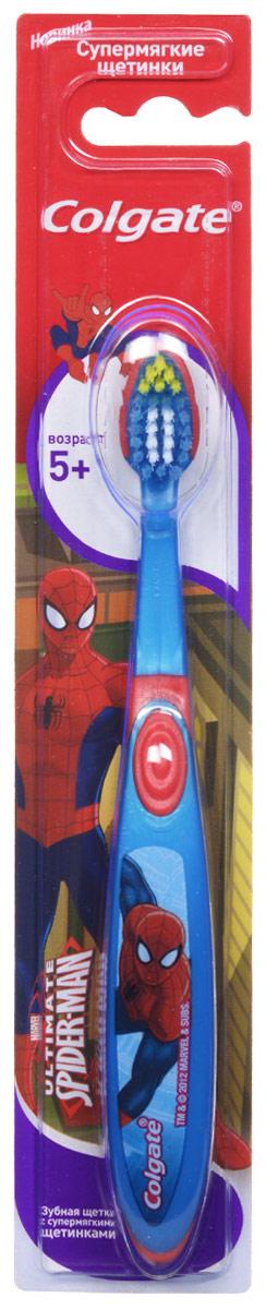 Colgate Зубная щетка Spider-man, детская, с мягкой щетиной, от 5 лет, цвет: синий, красныйFCN21494_синий красныйДетская зубная щетка Colgate Spider-man предназначена для детей, у которых еще есть молочные и уже появились постоянные зубы. Разноуровневые щетинки тщательно очищают молочные и прорезывающиеся зубки. Удлиненные кончики эффективно очищают труднодоступные межзубные промежутки зубов. Удобная ручка с упором для большого пальца не скользит, обеспечивая лучший контроль. А благодаря яркому и привлекательному дизайну, ежедневная чистка зубов станет удовольствием для вашего ребенка. Товар сертифицирован.