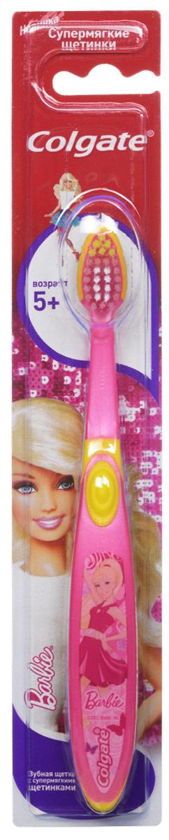 Colgate Зубная щетка Barbie, детская, с мягкой щетиной, от 5 лет, цвет: розовый, желтыйFCN21495_розовый желтыйДетская зубная щетка Colgate Barbie предназначена для детей, у которых еще есть молочные и уже появились постоянные зубы. Разноуровневые щетинки тщательно очищают молочные и прорезывающиеся зубки. Удлиненные кончики эффективно очищают труднодоступные межзубные промежутки зубов. Удобная ручка с упором для большого пальца не скользит, обеспечивая лучший контроль. А благодаря яркому и привлекательному дизайну, ежедневная чистка зубов станет удовольствием для вашего ребенка. Товар сертифицирован.