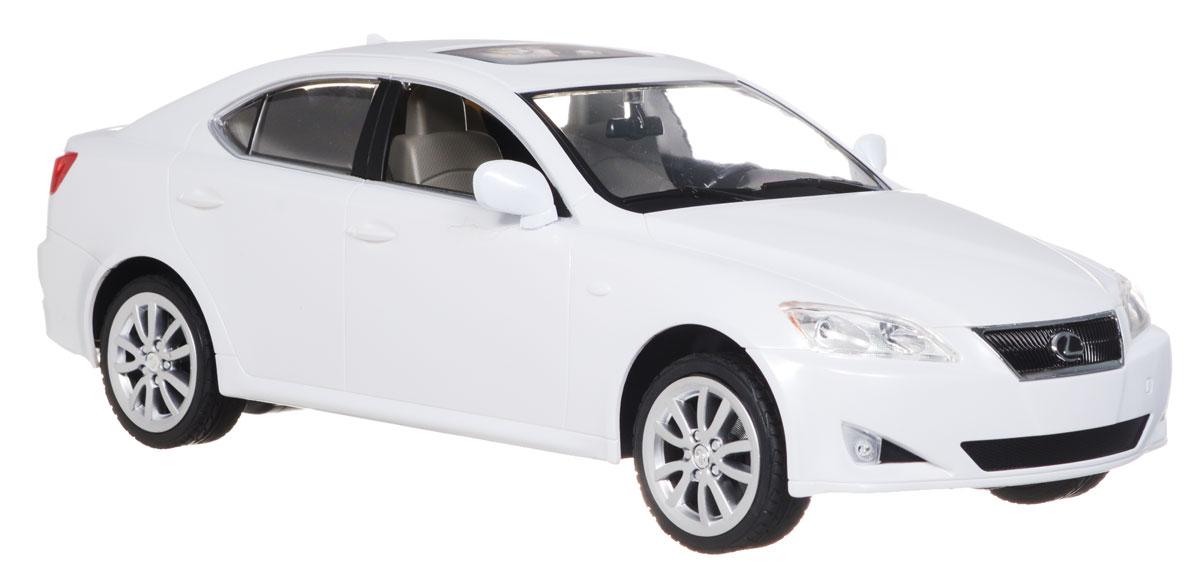 Rastar Радиоуправляемая модель Lexus IS 350 цвет белый масштаб 1:1430800_белыйРадиоуправляемая модель Rastar Lexus IS 350 привлечет внимание не только ребенка, но и взрослого и станет отличным подарком любителю всего оригинального и необычного. Машинка является уменьшенной копией автомобиля Lexus IS 350 в масштабе 1:14. Машинка изготовлена из прочного пластика, шины выполнены из мягкой резины. Фары машины светятся. Машинка при помощи пульта управления может перемещаться вперед, давать задний ход, поворачивать влево и вправо, останавливаться. Ваш ребенок часами будет играть с моделью, придумывая различные истории и устраивая соревнования. Порадуйте его таким замечательным подарком! Пульт управления работает от батарейки напряжением 9V типа 6F22, машина работает от 5 батарей напряжением 1,5V типа АА (не входят в комплект).