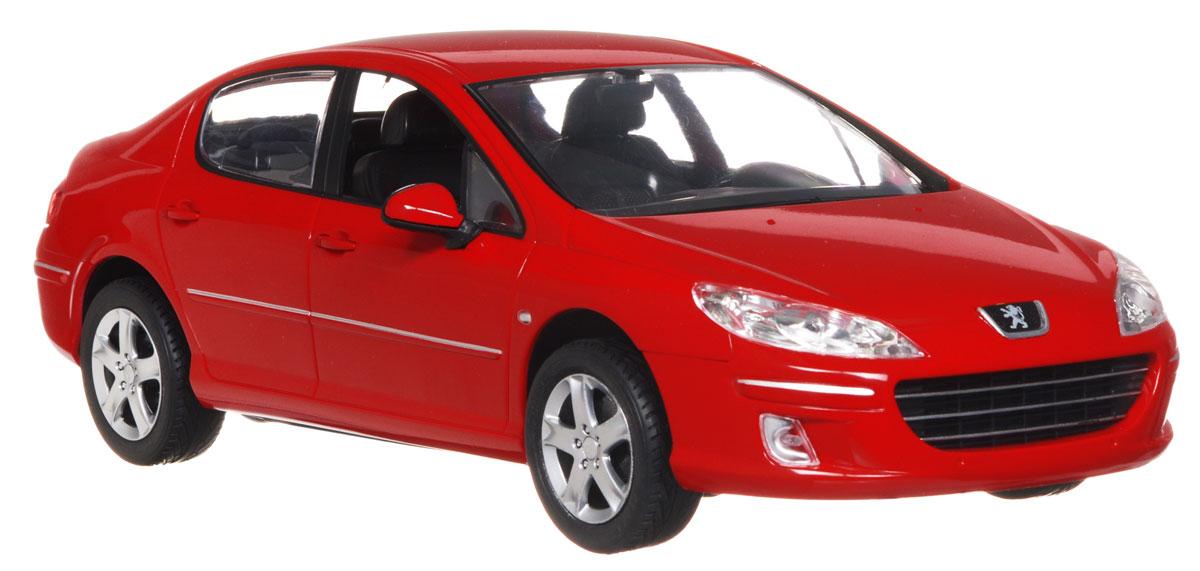 Rastar Радиоуправляемая модель Peugeot 407 цвет красный
