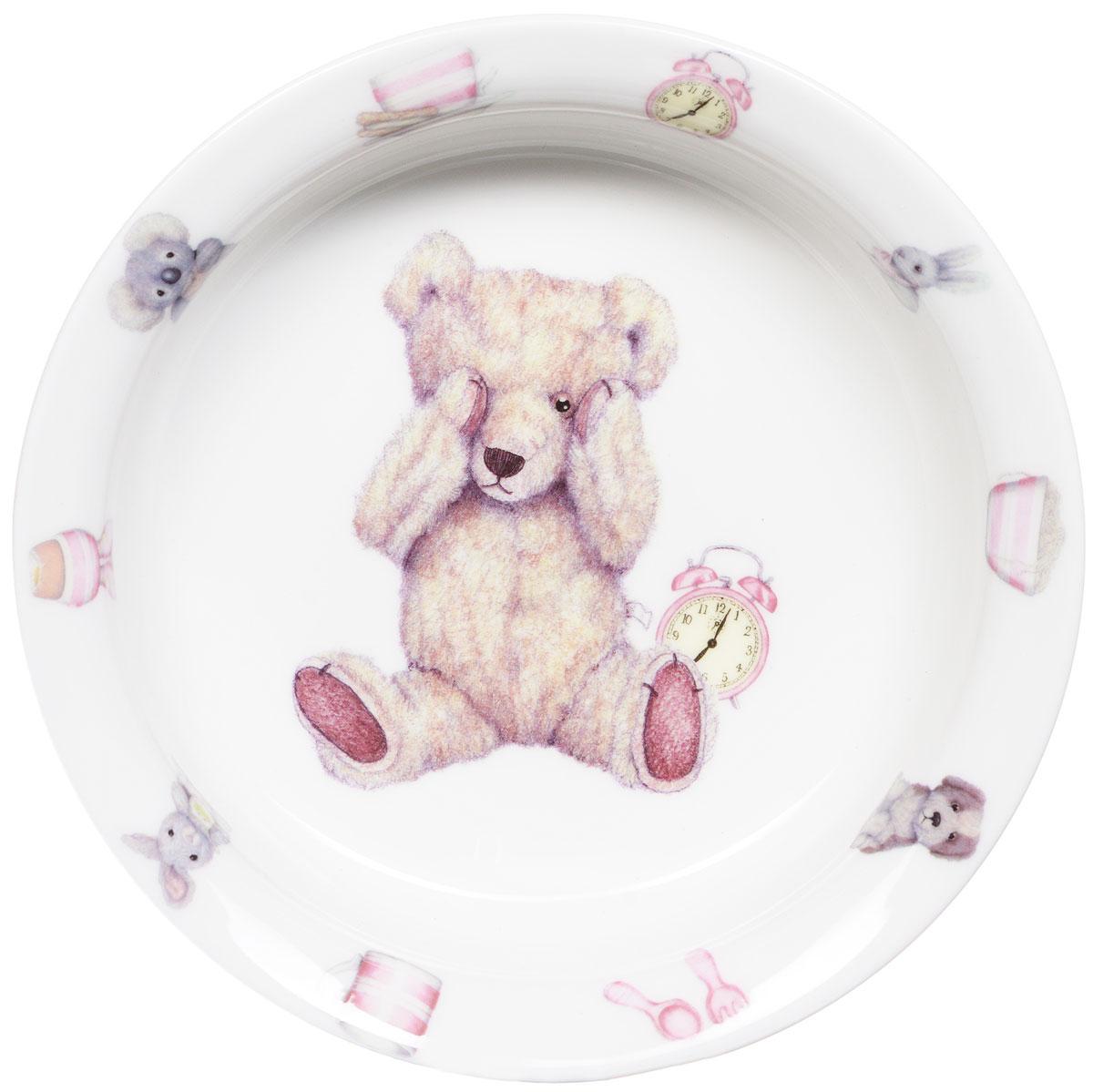 Roy Kirkham Миска Тедди тайм 15,5 см цвет розовыйXTEDPIN1391Фарфоровая миска Тедди тайм превратит процесс кормления вашего малыша в веселую игру. Очаровательный образ медвежонка Тедди - воплощение английской классики. В коллекции детской посуды и подарочных аксессуаров Тедди тайм английской компании Roy Kirkham, всемирно признанного бренда с более чем 40-летней историей, все предметы изготовлены из тонкостенного костяного фарфора - керамического материала высшего качества, отличающегося необыкновенной прочностью и небольшим весом. Ваш ребенок будет кушать с большим удовольствием, стараясь быстрее добраться до картинки с мишкой Тедди. Отвечает всем требованиям безопасности при контакте с пищей.