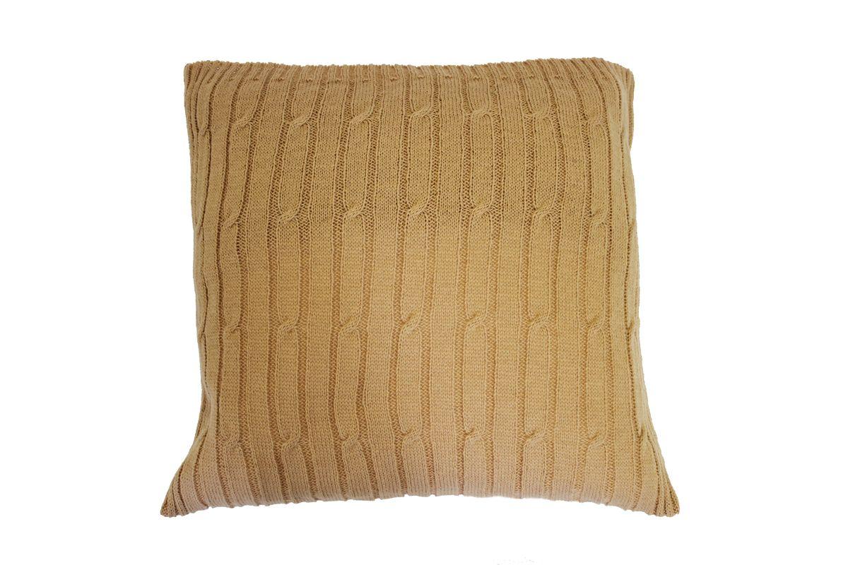 Подушка вязаная Proffi Home Косы, цвет: бежевый, 40 х 40 смPH3670Материал: шерсть, полиэстер Длина: 40 см Ширина: 40 см Цвет: бежевый