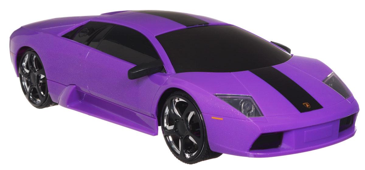 Jada Радиоуправляемая модель Lamborghini Murcielago84197-2Радиоуправляемая модель Jada Lamborghini Murcielago, выполненная из прочного пластика с металлическими элементами, является точной уменьшенной копией настоящего автомобиля в масштабе 1:16. Модель создана специально для девочек. Машина при помощи пульта управления движется вперед, дает задний ход, поворачивает влево и вправо, останавливается. Машина обладает высокой стабильностью движения, что позволяет полностью контролировать его процесс, управляя уверенно и без суеты. Такая модель автомобиля станет отличным подарком человеку, ценящему оригинальность и изысканность, а качество исполнения представит такой подарок в самом лучшем свете. Машина работает от 4 батареек типа АА напряжением 1,5V, пульт работает от батарейки 9V типа Крона (не входят в комплект).