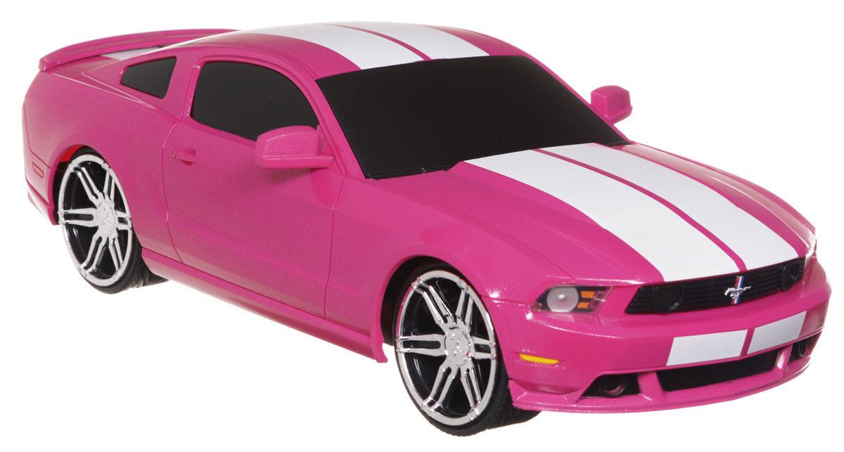 Jada Радиоуправляемая модель Ford Mustang Boss 302 цвет розовый84197-1Радиоуправляемая модель Jada Ford Mustang Boss 302, выполненная из прочного пластика с металлическими элементами, является точной уменьшенной копией настоящего автомобиля в масштабе 1:16. Модель создана специально для девочек. Машина при помощи пульта управления движется вперед, дает задний ход, поворачивает влево и вправо, останавливается. Машина обладает высокой стабильностью движения, что позволяет полностью контролировать его процесс, управляя уверенно и без суеты. Такая модель автомобиля станет отличным подарком человеку, ценящему оригинальность и изысканность, а качество исполнения представит такой подарок в самом лучшем свете. Машина работает от 4 батареек типа АА напряжением 1,5V, пульт работает от батарейки 9V типа Крона (не входят в комплект).
