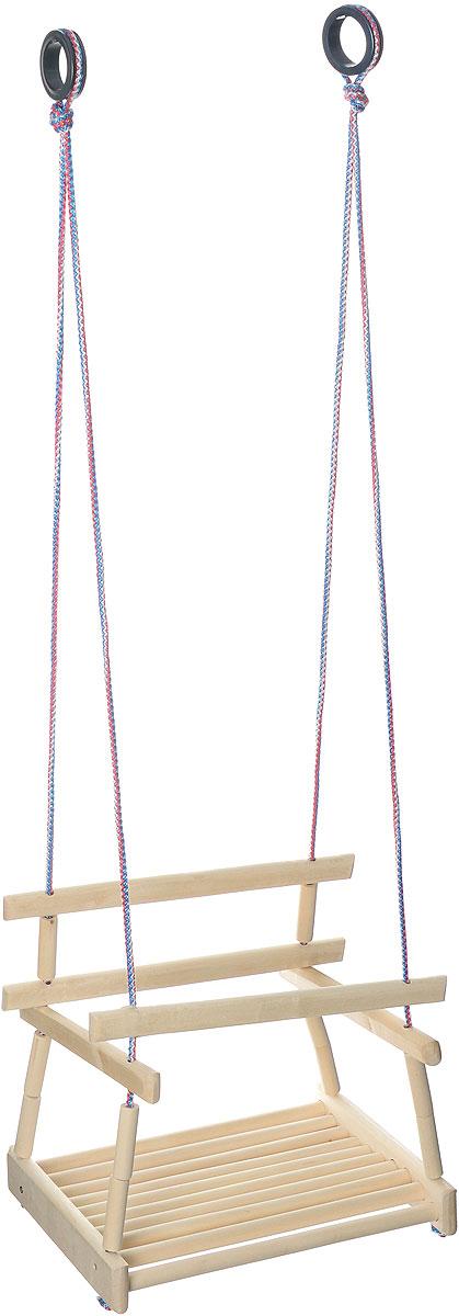 Фея Качели подвесные5424Качели подвесные Фея предназначены для организации досуга ребенка и ускорения его физического развития. Надежная конструкция не даст ребенку выпасть во время качания, а прочные веревки, на которые качели подвешиваются к дверному проему или специальной стойке, с легкостью выдержат вес малыша. Детские подвесные качели очень удобны и просты в применении. Кольца для подвешивания выполнены из прочного пластика. Эти качели можно использовать дома, а также взять с собой на дачу, на пикник.