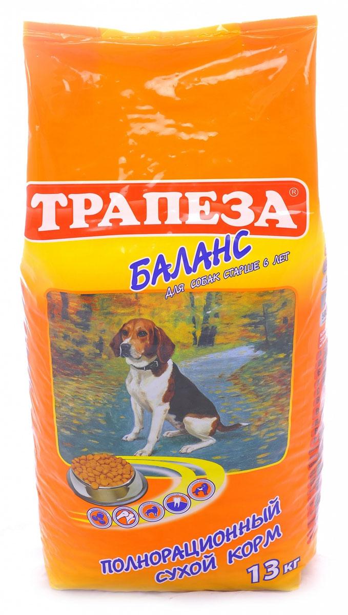 Корм сухой Трапеза Баланс для собак старше 6 лет, 13 кг55408Сбалансированный состав корма Трапеза-БИОБАЛАНС в сочетании с моционом позволит Вашей собаке поддерживать оптимальный вес и крепкое здоровье в течение долгих лет жизни. Источниками необходимых Вашей собаке белков, в корме БИОБАЛАНС являются мясопродукты диетических бройлерных кур. Корм обогащен также ненасыщенными жирными кислотами, а также витаминами С и Е для предотвращения клеточного старения и укрепления иммунной системы. Для баланса кишечной микрофлоры и обеспечения хорошего функционирования желудка в корме содержится оптимальный уровень клетчатки. Для облегчения работы сердца в корме понижено содержание натрия и повышенно содержание калия. Трапеза-БИОБАЛАНС сбалансирован также и по уровню фосфора, что способствует замедлению износа почечной системы. Для поддержания идеального веса контролируется энергетический потенциал. ПРОТЕИН — 24%, ЖИР — 5%, ЭНЕРГИЯ — 3150 кКал Состав: говядина, мясо домашней птицы, мясные субпродукты, злаковые культуры,...