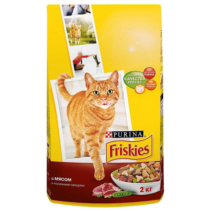 """Корм сухой для кошек """"Friskies"""", с мясом и полезными овощами, 2 кг ( 12053767 )"""