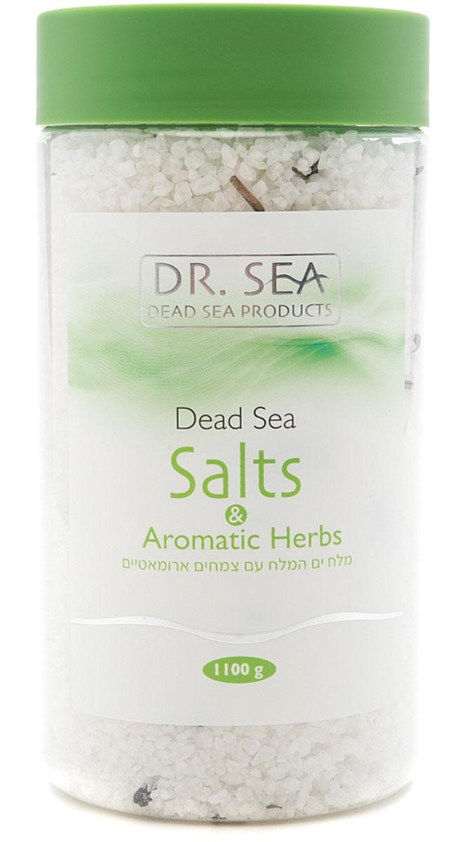 Соль для ванны Dr. Sea, с ароматическими травами, 1100 г