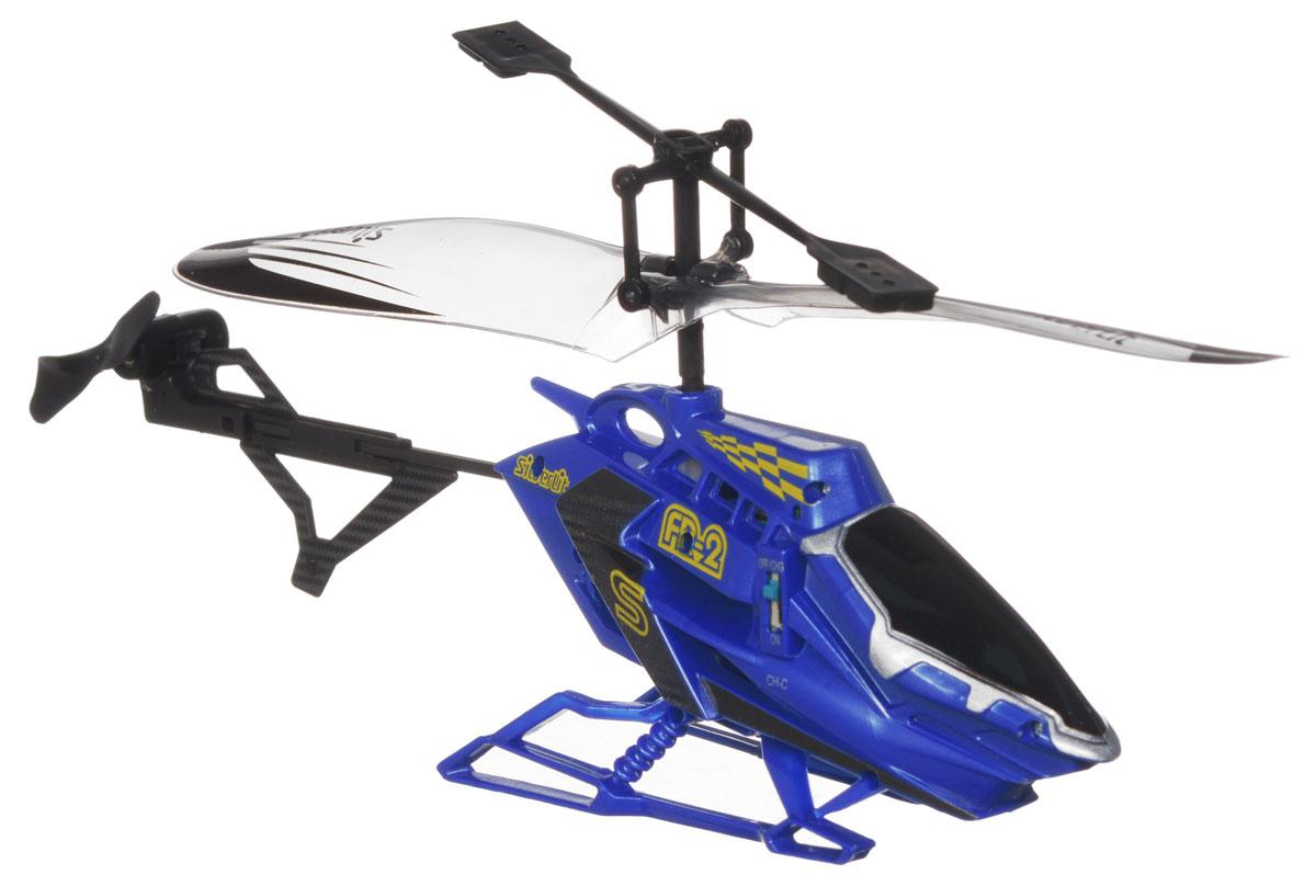 Silverlit Вертолет на радиоуправлении Разведчик цвет синий84704_синийВертолет на радиоуправлении Silverlit Разведчик, выполненный из металла и пластика, удивит и порадует любого мальчика. Вертолет может взлетать и осуществлять посадку, поворачивать налево и направо, ускоряться и притормаживать, лететь по прямой и останавливаться. Игрушка управляется с помощью дистанционного пульта с инфракрасным управлением, что позволяет играть только внутри помещения. Моделью очень легко управлять, вертолет послушно двигается в нужную сторону. Дети очень любят радиоуправляемые игрушки, ведь стоит только нажать на кнопку, как они буквально оживают, начинают двигаться и издавать характерные звуки. С вертолетом на радиоуправлении можно реализовать множество сюжетов, например, когда начинается захватывающая погоня за преступниками, или необходимо осмотреть происшествие сверху, а можно и просто играть с ним, рассматривая, как он облетает препятствия и приземляется на ровную поверхность, к таким играм с радостью подключатся и родители. ...