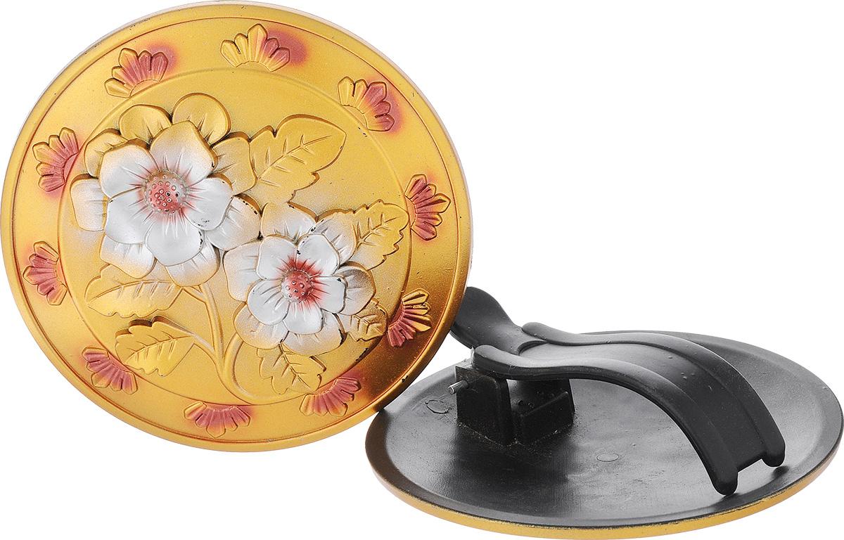 """Клипса для штор """"Goodliving"""", цвет: золотистый, диаметр 13 см, 2 шт"""