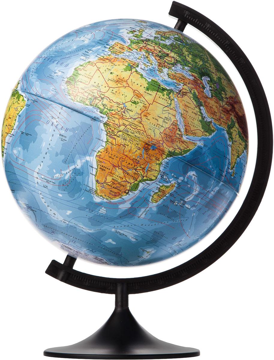 Globen Глобус Земли физический диаметр 320 ммК013200015Глобус - уменьшенная и понятная, даже детям, модель земного шара, помогает в развитии пространственного воображения и формирования правильного мировосприятия подрастающего поколения. Глобусы Globen изготавливаются из высококачественных материалов и являются отличным наглядным пособием для школьников и студентов.