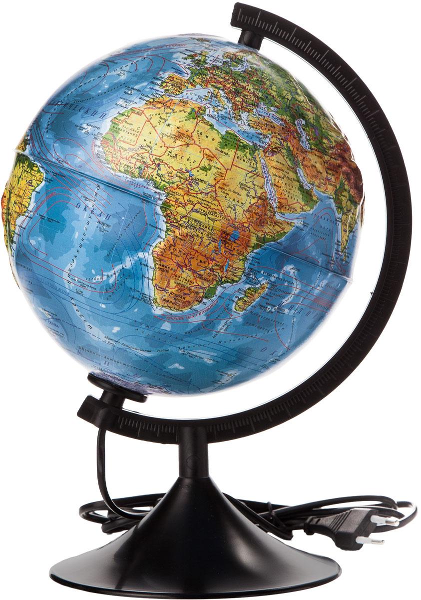 Globen Глобус Земли физический рельефный с подсветкой диаметр 210 мм К022100013К022100013Глобус - уменьшенная и понятная, даже детям, модель земного шара, помогает в развитии пространственного воображения и формирования правильного мировосприятия подрастающего поколения. Глобусы Globen изготавливаются из высококачественных материалов и являются отличным наглядным пособием для школьников и студентов.