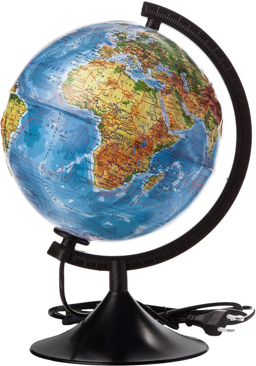 Globen Глобус Земли физико-политический рельефный с подсветкой диаметр 210 мм К022100091К022100091Глобус - уменьшенная и понятная, даже детям, модель земного шара, помогает в развитии пространственного воображения и формирования правильного мировосприятия подрастающего поколения. Глобусы Globen изготавливаются из высококачественных материалов и являются отличным наглядным пособием для школьников и студентов.
