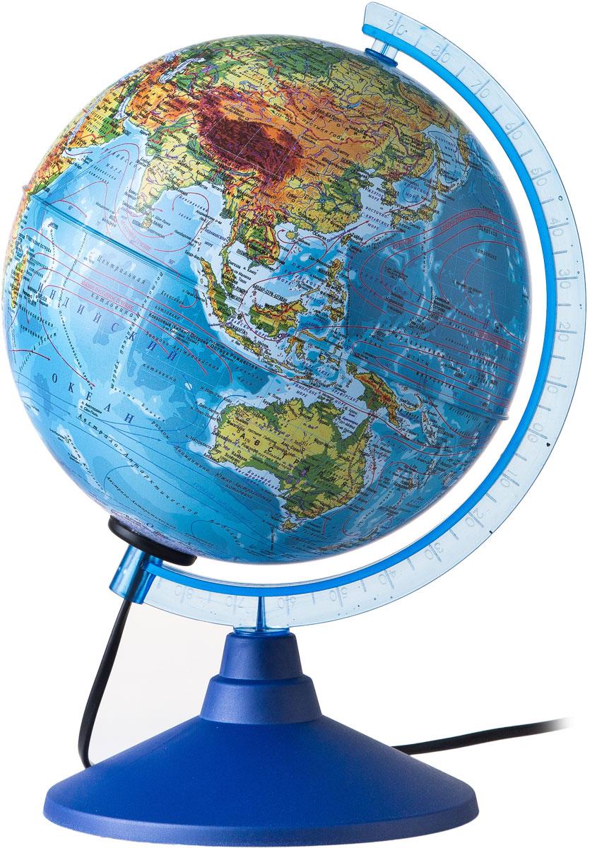 Globen Глобус Земли физико-политический с подсветкой диаметр 150 ммКе011500201Глобус - уменьшенная и понятная, даже детям, модель земного шара, помогает в развитии пространственного воображения и формирования правильного мировосприятия подрастающего поколения. Глобусы Globen изготавливаются из высококачественных материалов и являются отличным наглядным пособием для школьников и студентов.