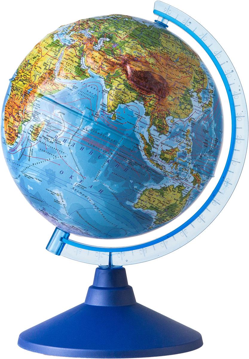 Globen Глобус Земли физический рельефный диаметр 210 мм Ке022100183Ке022100183Глобус - уменьшенная и понятная, даже детям, модель земного шара, помогает в развитии пространственного воображения и формирования правильного мировосприятия подрастающего поколения. Глобусы Globen изготавливаются из высококачественных материалов и являются отличным наглядным пособием для школьников и студентов.